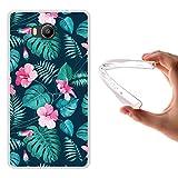 WoowCase Elephone P9000 Lite Hülle, Handyhülle Silikon für [ Elephone P9000 Lite ] Tropische Blumen 2 Handytasche Handy Cover Case Schutzhülle Flexible TPU - Transparent