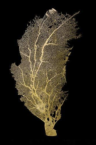   Acrylglasbild mit Blattgold   Wandbild Glasbild Acrylbild Rahmenlos   Pflenze   Druck auf Acrylglas   Goldveredelung   Größe: 40x60 cm