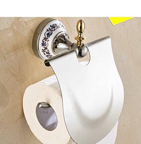 Wandmontage Toilettenpapierhalter,Edelstahl Toilettenpapierhalterung,WC-Papierrollenhalter,Toilettenpapierhalter mit Deckel Wandmontage Badzubehör Dekor,Papierrollenhalter(Chrom) - Toilettenpapier Chrom Halter