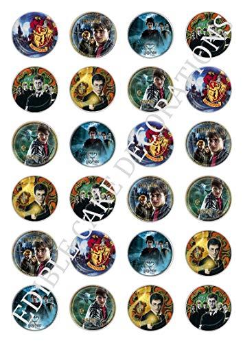 Ediblecakedecorations 24 x Harry Potter Celebration essbare Papier-Cupcake-Topper Kuchen-Dekorationen Geburtstag