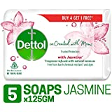 Dettol Co-created with moms Jasmine Bathing Soap , 125gm (Buy 4 Get 1 Free)
