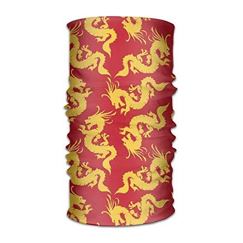 FAFANIQ Chinese Dragons Unisex Breathable Headband Bandanas Headwear Balaclava Neck Gaiter Magic Scarf UV Protection for Daily Activities