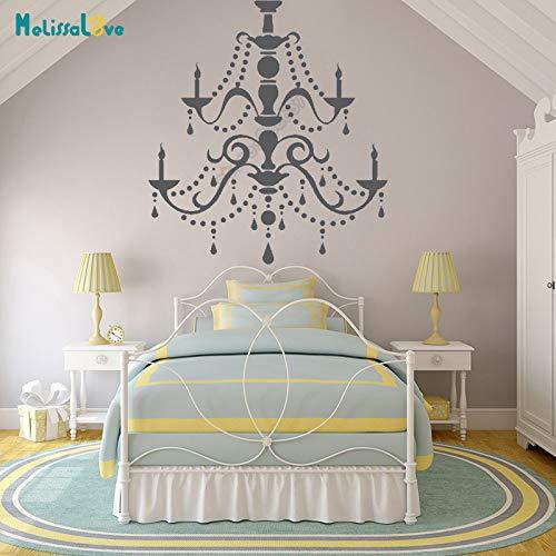 jiushizq Decorazione lampadario Splendida Camera da Letto Decoro Decal Soggiorno Adesivo casa Rimovibile Adesivi murali in Vinile80x84cm