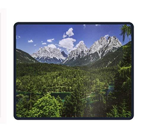 "Preisvergleich Produktbild Mouse Pad Unique Custom Printed Mousepad Earth Alps Mountain Panorama River Germany Bavaria Forest Non-Slip Rubber 11.8""X9.85"""