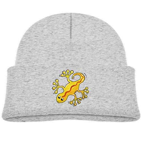 LLALUA Yellow Salamander Beanie Caps Knit Hat Baby Boys