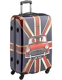 Saxoline Koffer Union Jack 4-rollen Trolley 77 cm 81.0 Liters Mehrfarbig 1300H0.71.06