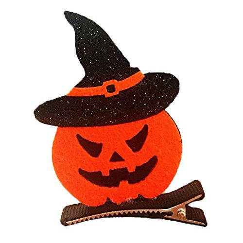 elegantstunning Barrette Haar Clip Kinder Lustige Cosplay Dekor Halloween Party Dress up Fledermaus Kürbis Hexe Cap