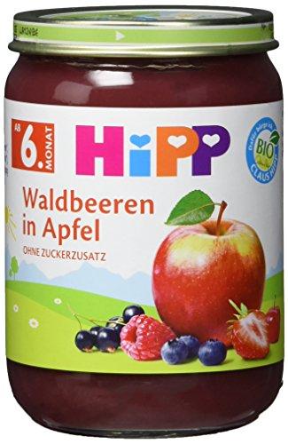Hipp Waldbeeren in Apfel, 6er Pack (6 x 190g)