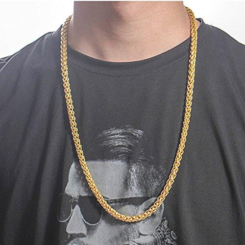 OVERMAL Mode Luxus Jewerly Gelbgold überzogene Halskette