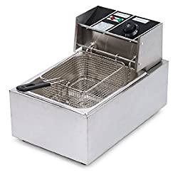 Electric Deep Fryer 5 Liters Stainless Steel for commercial and domestic use