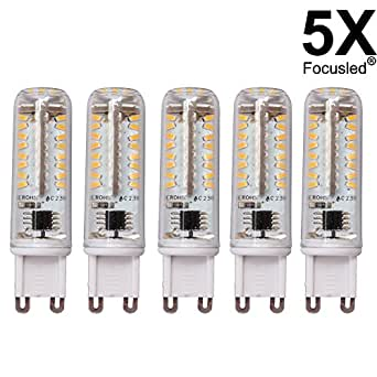 5x g9 dimmable led ampadine 6w 70 smd 3014 super bright for Lampade led 220v