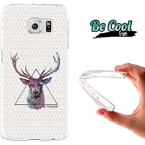 Becool® Fun - Funda Gel Flexible Samsung Galaxy S6 Dibujo Ciervo