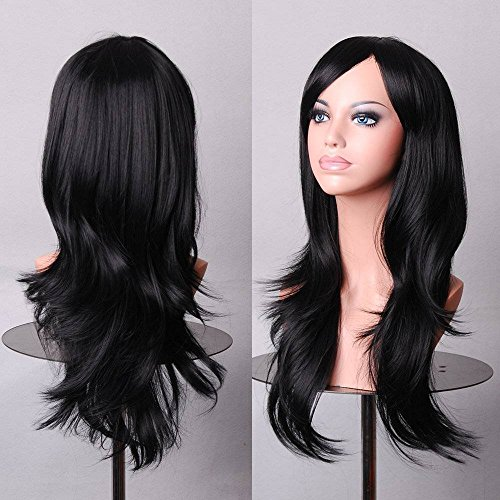 Meijunter J8G Fashion Cosplay Long Curly Synthetic Hair Cheveux Women Full Wigs Perruques M15-156J 70cm