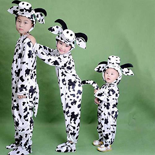 GUAN Halloween Kostüme Kinder Tier Kostüme Kostüme Weihnachtstanz Kuh Show Kostüme (Männliche Tier Kostüm)