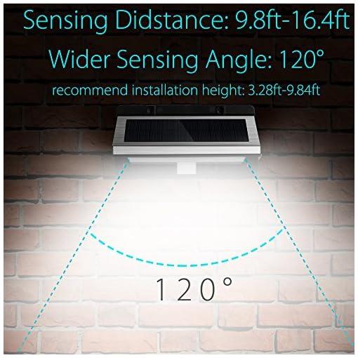 Led Solaresabask Modos Lámparas La Luz Solar 21 MovimientoLuces De Movimiento focos Pared 3 SolarLed Sensor Con Para foco 3LRS45cAjq
