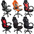 eMarkooz(TM) Desk chair executive office Swivel chair Mesh chair padded Computer PC Desk chairs adjustable armchair - inexpensive UK chair shop.