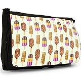 EIS am Stiel Schokolade verdreht Rakete Große Messenger- / Laptop- / Schultasche Schultertasche aus schwarzem Canvas