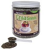 Semillas de Chia (Salvia hispanica) NortemBio 550g, Calidad Premium. 100% natural. Extra de Omega 3, Fibra y Proteína de Origen Vegetal.