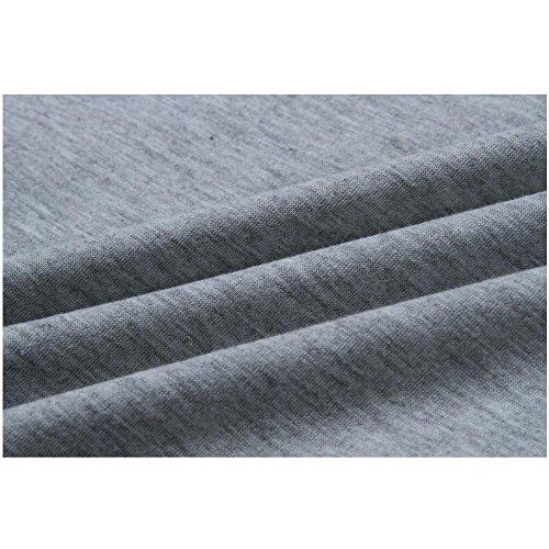 Zaywind Damen Gestreift Rundhals Langarmshirt Streifen Pullover Patchwork Sweatshirt Casual Bluse Hemd Oberteil Tops Herbst Hell Grau