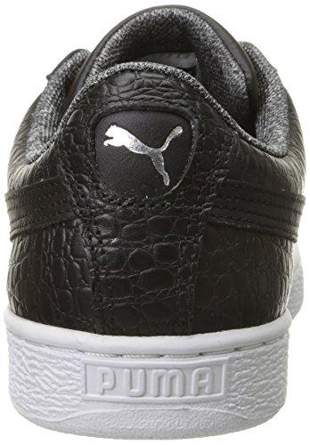 Puma Basket Klassischen Strukturierter Fashion Sneaker Black