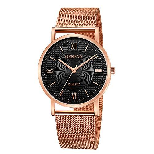 Lazzgirl Geneva Classic Hot Luxury Damen Edelstahl Analoge Quarz-Armbanduhr(Farbe)