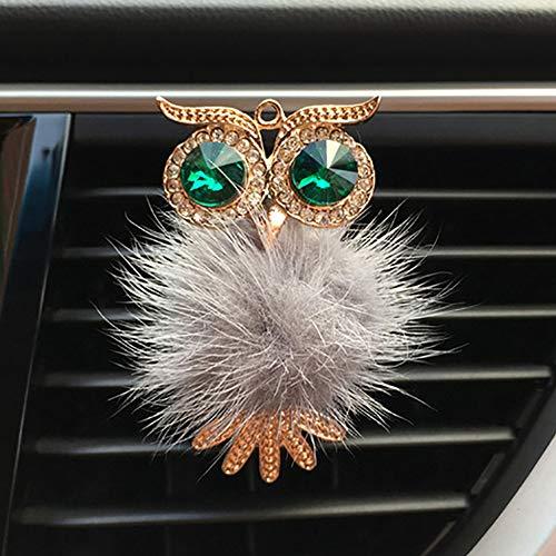 ZENGJIABIN Diamante Pelliccia Gufo Deodorante per Auto Presa Automatica Profumo Clip Profumo Aroma Diffusore per Auto Bling Accessori per Auto Decorazioni per Interni R