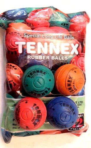 TENNEX T-10022 Rubber Rubber Ball Assorted Colour
