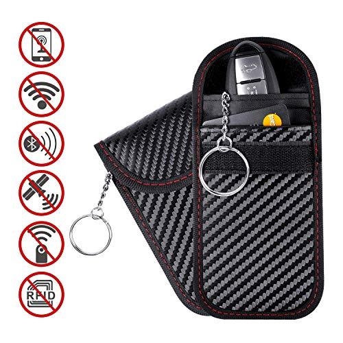 uktur, RFID-Signalblocker, Gehäuse für Autoschlüssel, Schlüsselloser Einstieg, Signalblocker, Schutztasche für WLAN/GSM / LTE/NFC / RF-Blocke (schwarz) ()