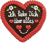 Produkt-Bild: Lebkuchenherz - 23cm - Ich liebe Dich über alles- das perfekte Geschenk für Freund und Freundin zum Beweis der Liebe
