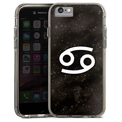 Apple iPhone 6 Plus Bumper Hülle Bumper Case Glitzer Hülle Sternzeichen Krebs Astrologie Bumper Case transparent grau