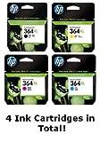 Original HP 364XL 1 x Set (364 XL) Schwarz, Cyan, Magenta und Gelb &. (PC)