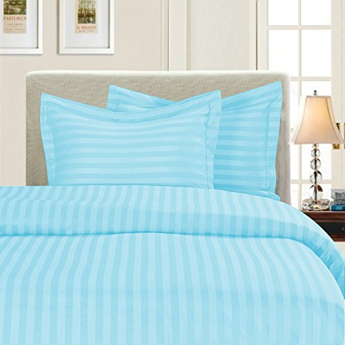 Livingston Home Stripe Q Aqua Duvet-Cover-Sets, Full/Queen