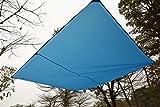 GEERTOP Zeltplane Sonnensegel Tarp Leichtgewichtige Wasserdicht - 300 x 220 cm - mit Zeltheringen und reflektierend Abspannseile und Tasche für Camping Wandern Bergsteigen (Blau) -