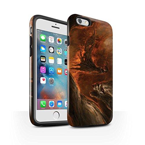 Offiziell Chris Cold Hülle / Glanz Harten Stoßfest Case für Apple iPhone 6+/Plus 5.5 / Pack 10pcs Muster / Dunkle Kunst Dämon Kollektion Der Anrufer