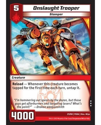 Kaijudo TCG - Onslaught Trooper (29/80) - Shattered Alliances by Kaijudo: Rise of the Duel Masters