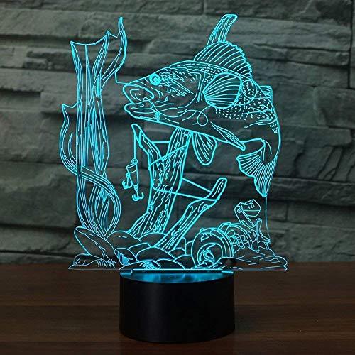 3D Illusion Lampe Angeln Nachtlicht mit 7 Farben blinken & Touch-Schalter USB Powered, Schlafzimmer Schreibtischlampe für Kinder Geschenke Dekoration - Angel-touch-lampe