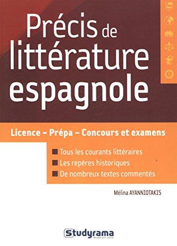 Prcis de littrature espagnole