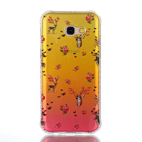 Coque Samsung Galaxy A3 2017 Glitter, Samsung Galaxy A3 2017 Coque Brillante, SainCat Ultra Slim TPU Silicone Case pour Samsung Galaxy A3 2017, Glitter Bling Diamante Strass Anti-Scratch Soft Gel 3D H Faon