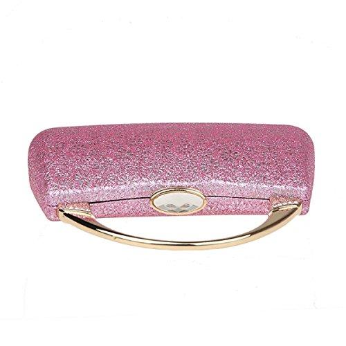 Pochette Da Donna Gshga Pacchetto Principessa Confezione Da Pranzo Pacchetto Abito Da Sera Borsa Paillette, Argento Rosa