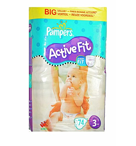 Pampers Active Fit Baby Windeln 74 Windeln Gr.3 MIDI 4-9kg im Vorteilspack