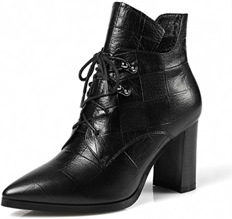 SKY-Maria Femmes Mode Talons hauts Le nouveau nouveau nouveau Pointu Pompes Bottes Chaussures en cuir Chaussures de loisirs EUR...B076HRQXQXParent fd1d4d