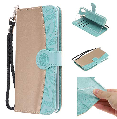 Qkldm Coque PU Huawei P20 Lite Case Wallet Phone Stand Cover with Credit Card Slots Flip Protective Case for Huawei P20 Lite (*/135) (3)
