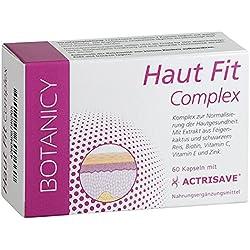 Haut Fit Complex Mit Actrisave, Natürliche Hilfe für Haut und Haar, bei hormonell bedingten Problemen wie Akne, Pickel und Haarausfall, für Männern und Frauen, 60 Kapseln (Monatspack)