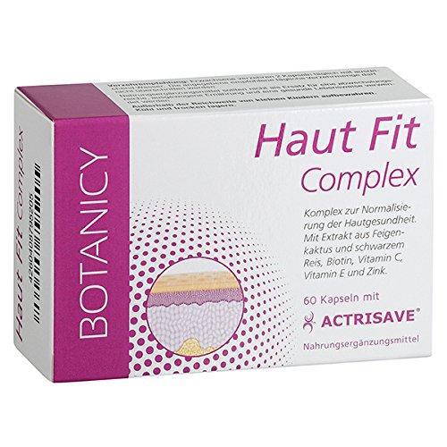 Haut Fit Complex Mit Actrisave®, Natürliche Hilfe für Haut und Haar, bei hormonell bedingten Problemen wie Akne, Pickel und Haarausfall, für Männern und Frauen, 60 Kapseln (Monatspack)