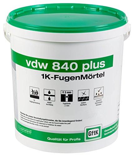 vdw840 plus 1K-Fugenmörtel 12,5 kg (Steingrau)