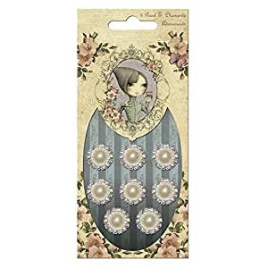 RAYHER Brads Rhinestones Pearls 58563000 Santoro London Self-Service Bag / Pack of 8