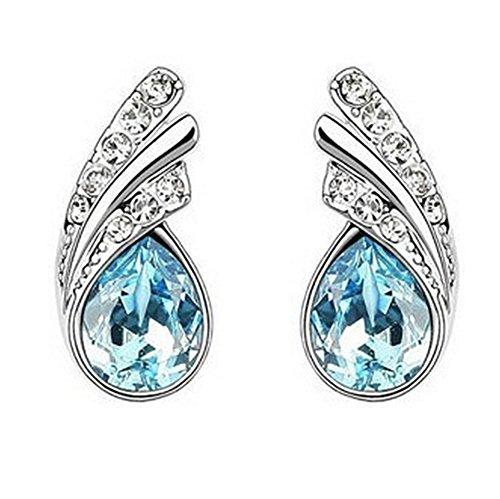 Frauen Zubehör Schmuck (Hosaire Ohrringe Mode Mode Tropfenform Blau Ohrringen Frauen Schmuck Zubehör Legierung Künstliche Edelsteine)
