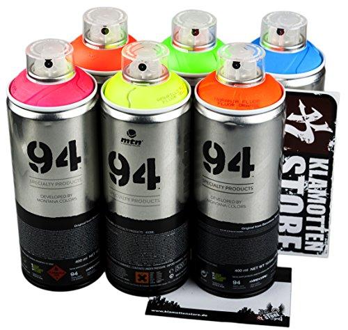 Los aerosoles MTN Graffiti de neón fluorescente de juego de 6 x...