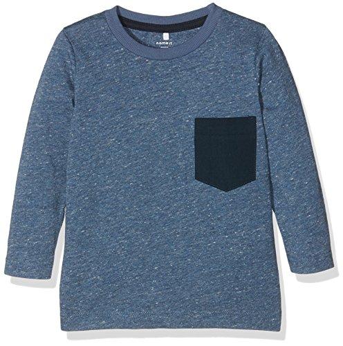 NAME IT Jungen Langarmshirt Nitseppeson LS Top MZ, Blau (Vintage Indigo), 92