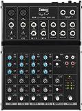 IMG STAGELINE MMX-22 4-Kanal-Audio-Mischpult mit 6 Eingängen, schwarz